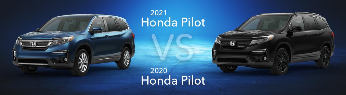 2021 vs 2020 Honda Pilot Comparison