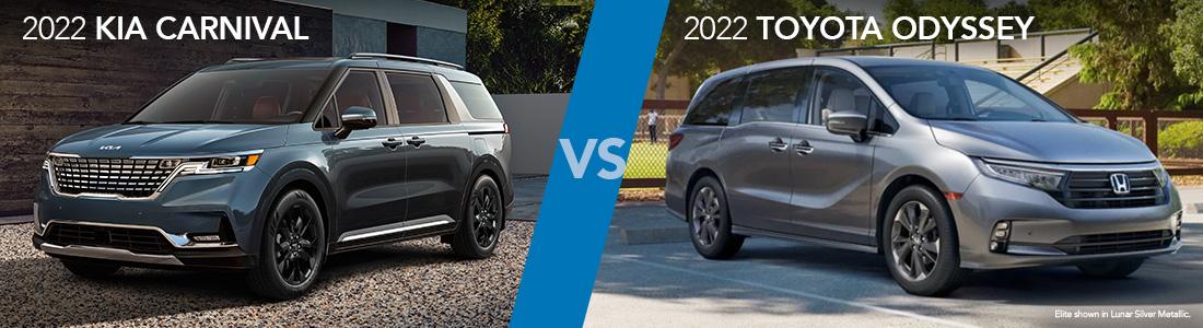 2022 Kia Carnival vs 2022 Honda Odyssey