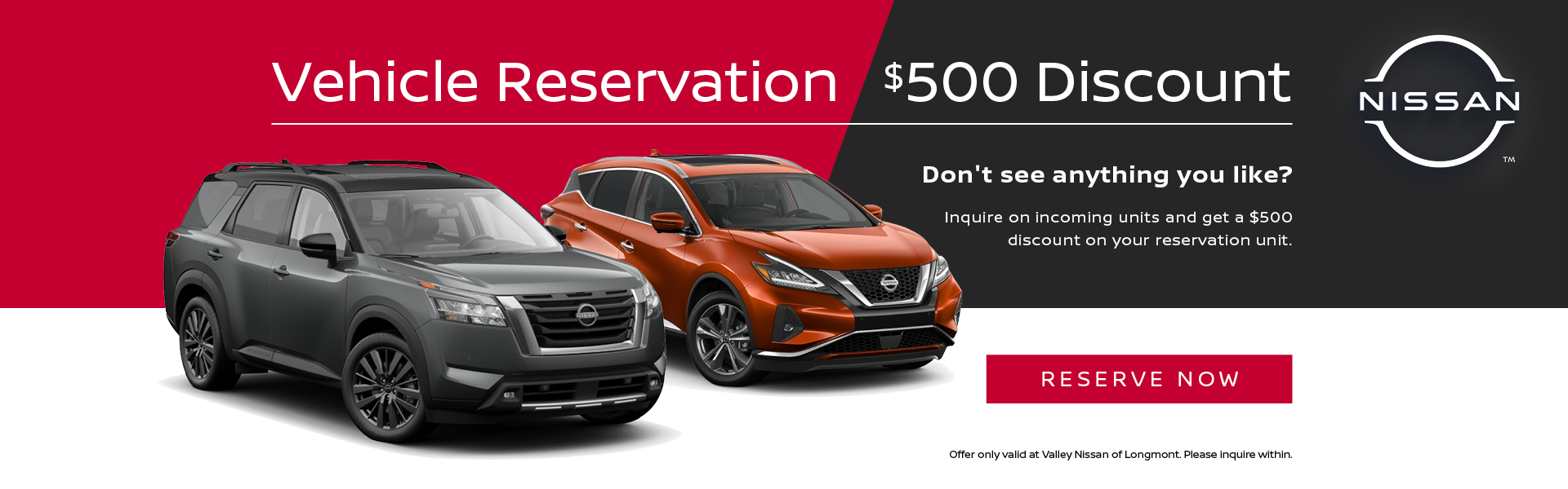 vehicle reservation discount