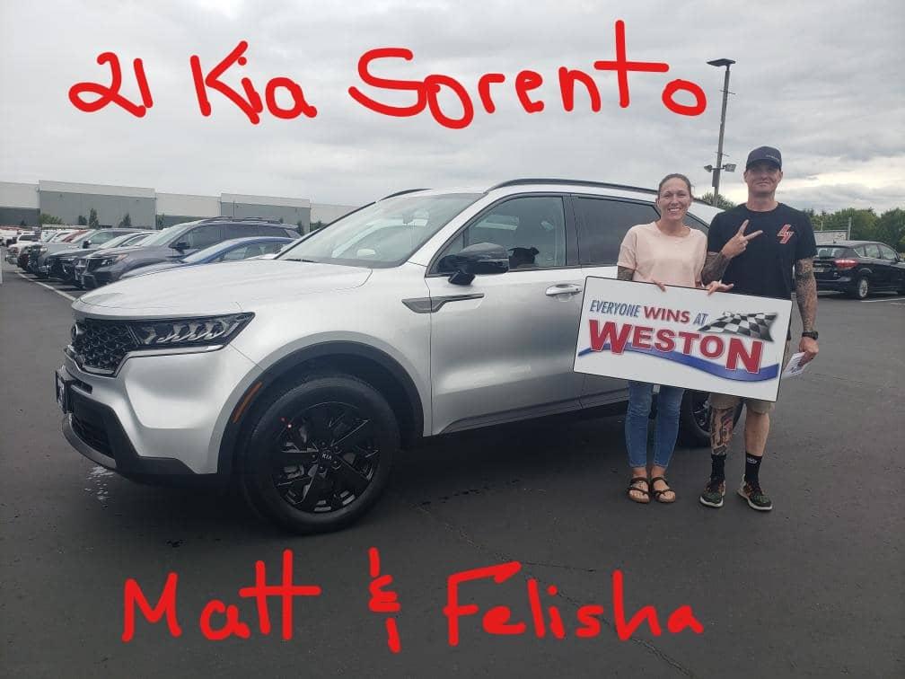 21 Kia Sorento Matt & Felisha