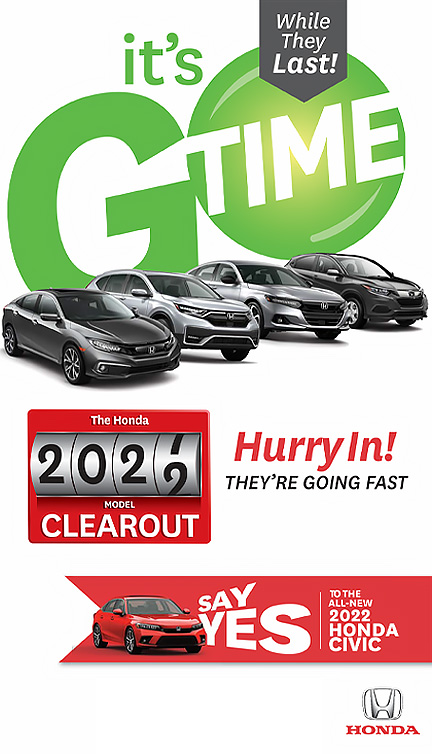2021 Model Clear out | 2022 Civic Launch 1