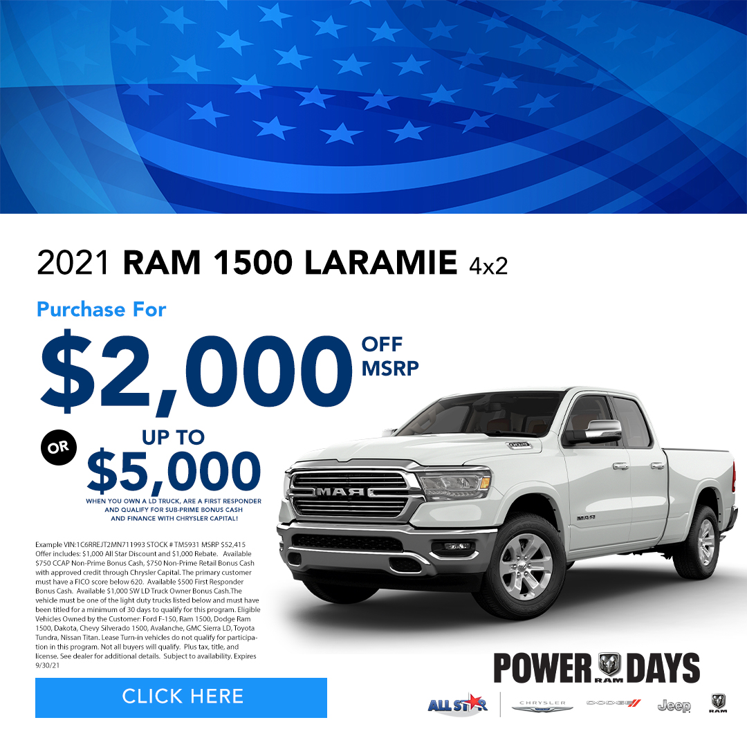 2021 Ram 1500 Laramie 4x2