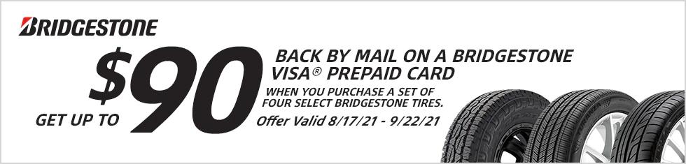 Bridgestone Tires - Get Up To A $90 Rebate