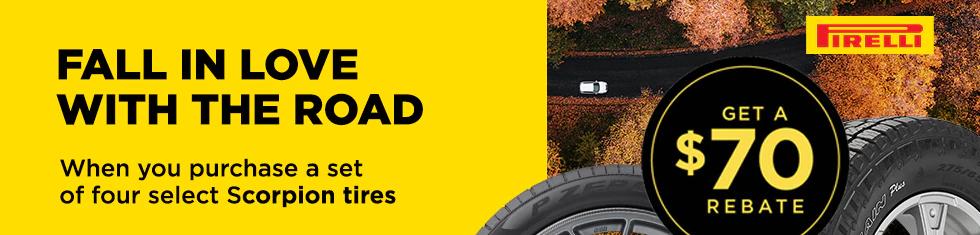 Pirelli Tires - $70 Rebate