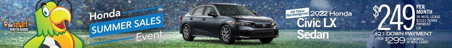 All-New 2022 Redesigned Honda Civic LX Sedan