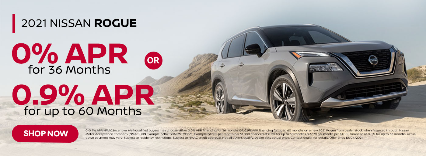 Nissan Rogue September 2021 Special Offer from Nissan of Jeff City in MO