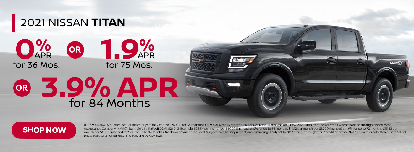 2021 Nissan Titan September 2021 Special Offer from Nissan of Jeff City in MO