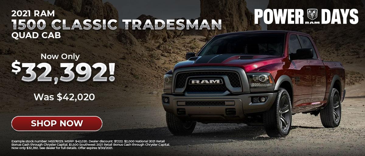 2021 Ram 1500 Classic September 2021 Special Offer from Greenville Chrysler in TX
