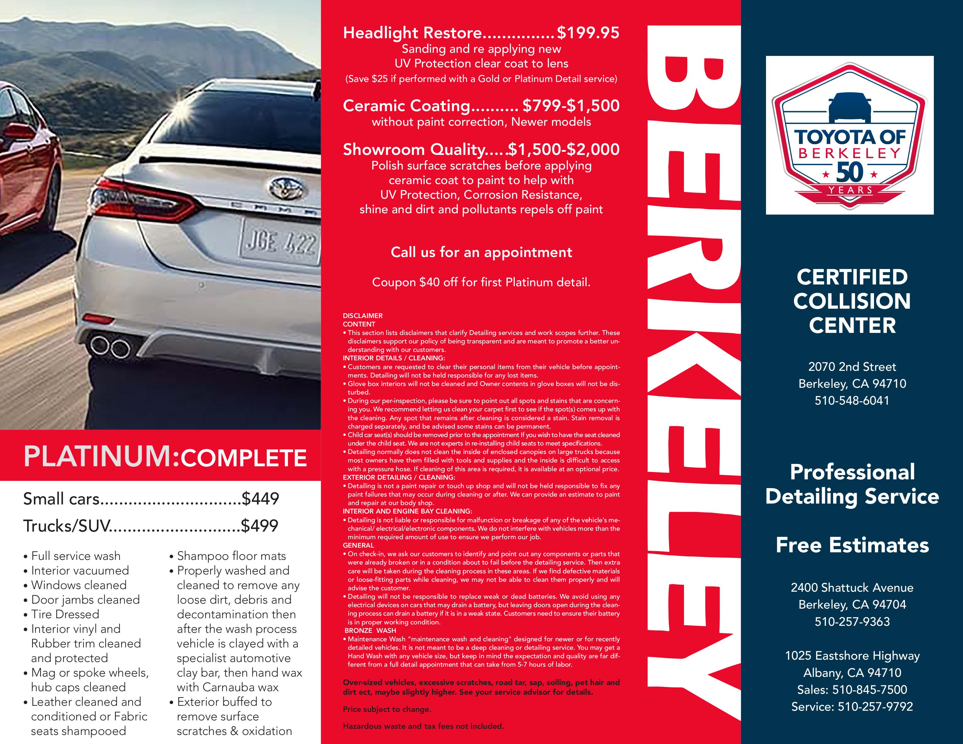 Toyota of Berkley Detailing Brochure 1