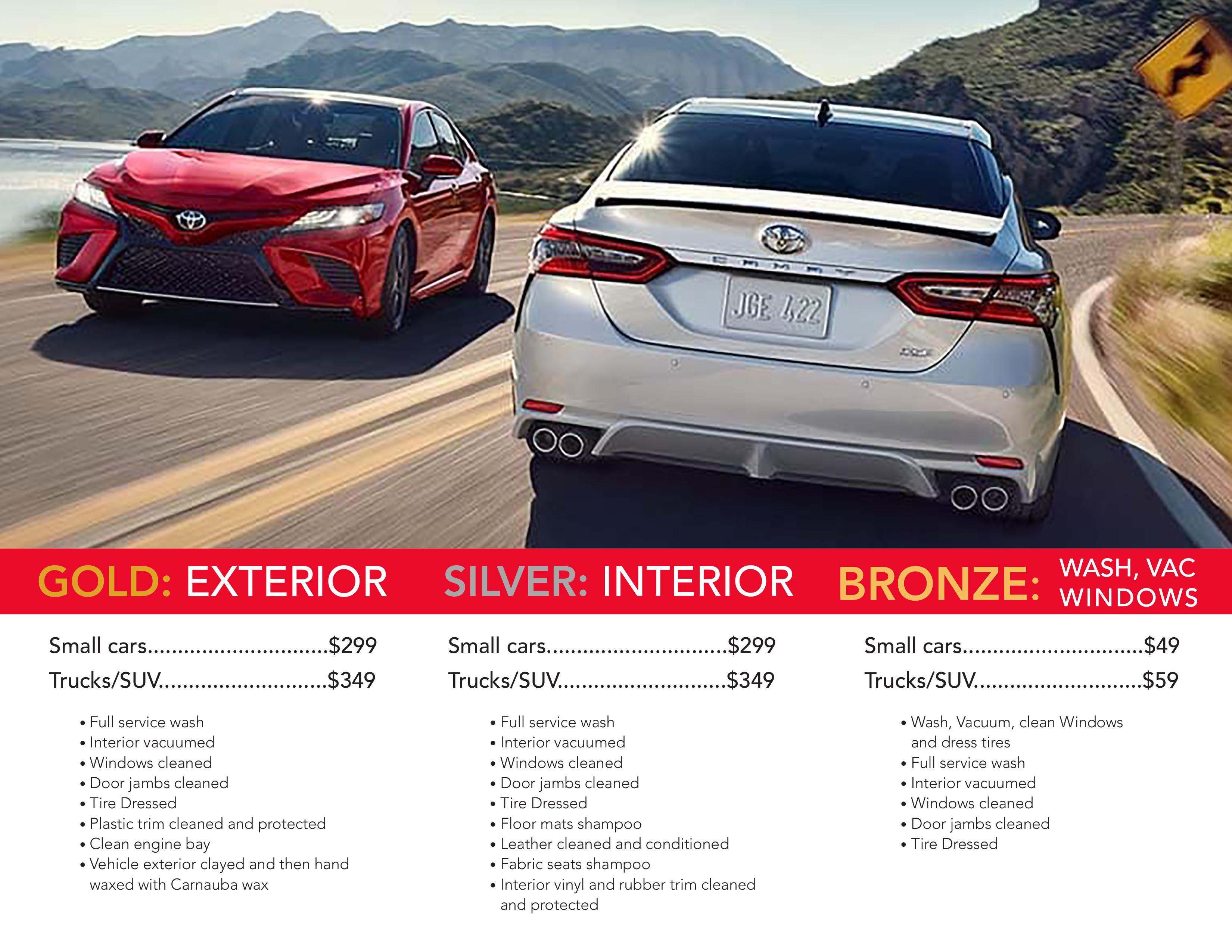 Toyota of Berkley Detailing Brochure 2