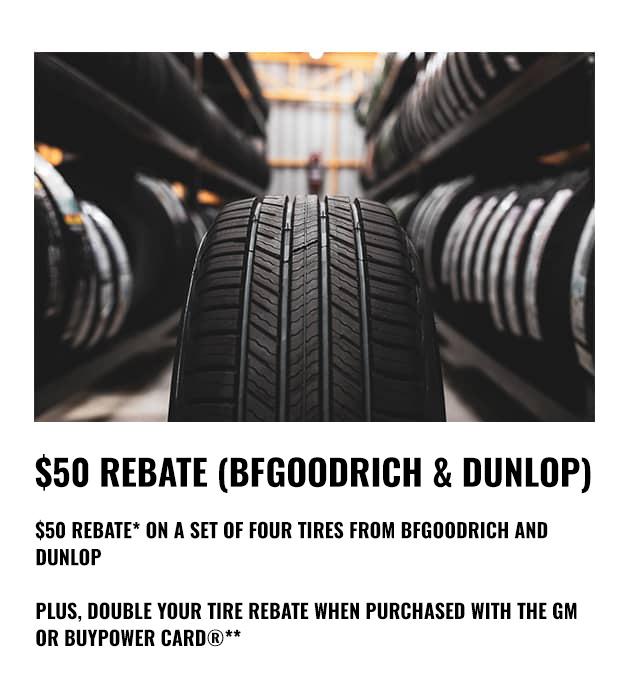 BFGoodrich & Dunlop Rebate