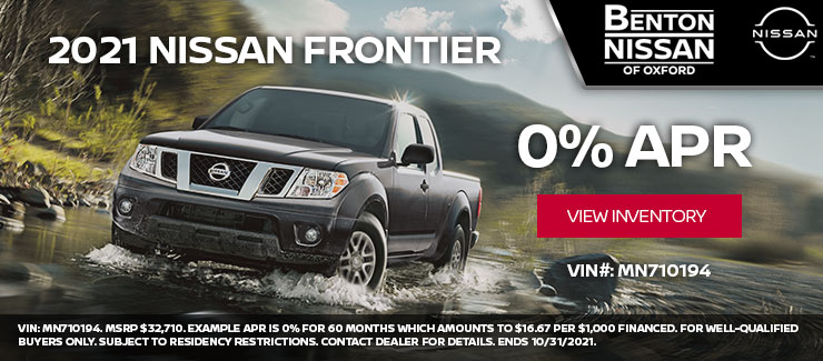 2021 Nissan Frontier at 0% APR