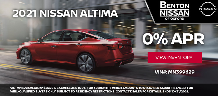 2021 Nissan Altima at 0% APR