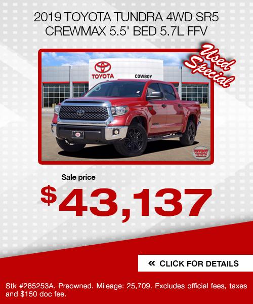 2019 Toyota Tundra 4WD SR5 CrewMax 5.5' Bed 5.7L FFV