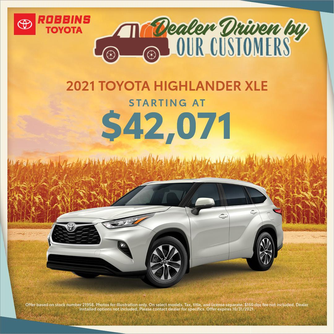 2021 Toyota Highlander   Nash, TX