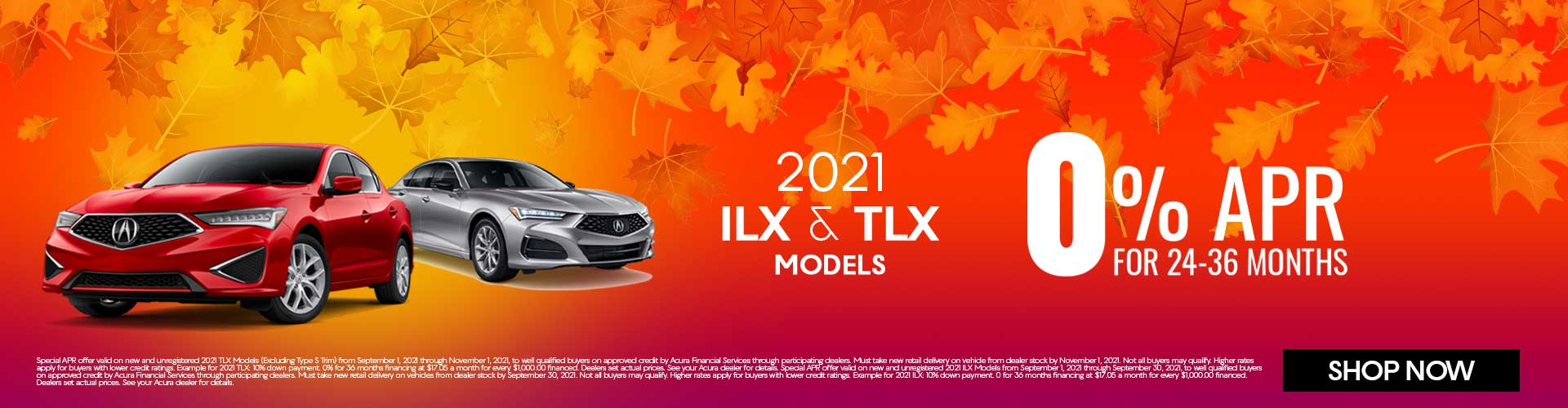 2021 Acura ILX and TLX