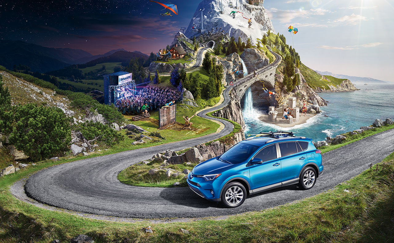 2016 toyota rav4 exterior display blue vibrant
