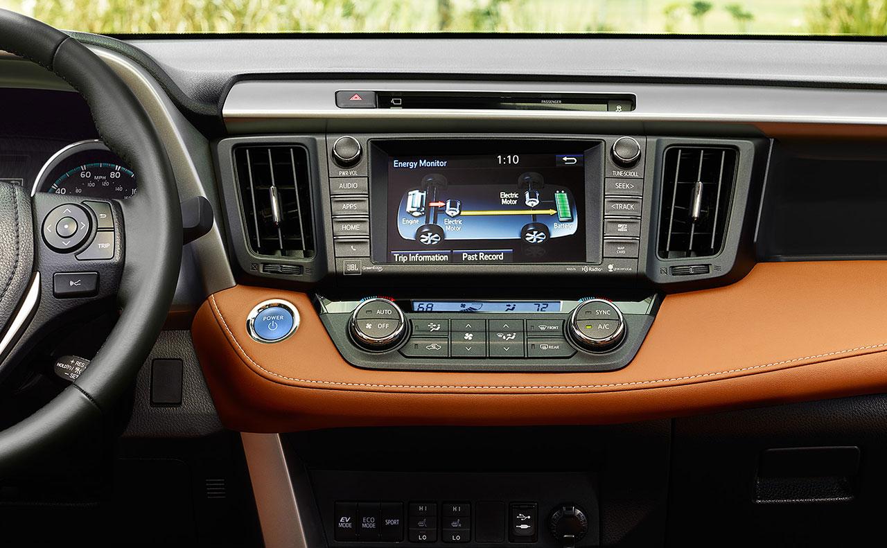 2016 toyota rav4 exterior driving orange blue motion